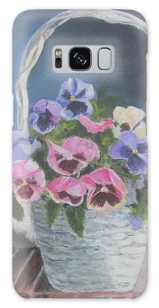 Pansies For A Friend Galaxy Case