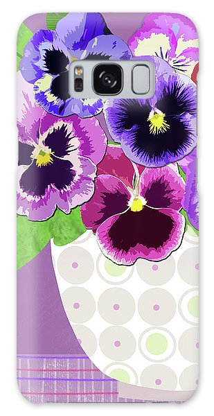 Pansies Stand For Thoughts Galaxy Case