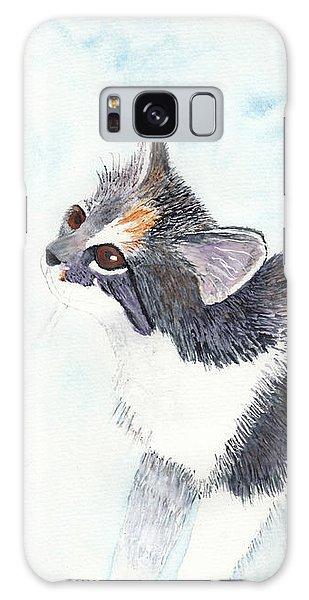 Calico Barn Cat Watercolor Galaxy Case