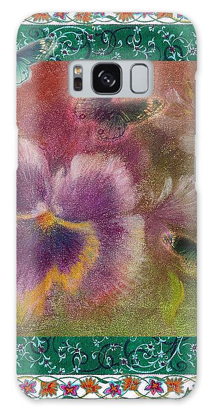 Pansy Butterfly Asianesque Border Galaxy Case