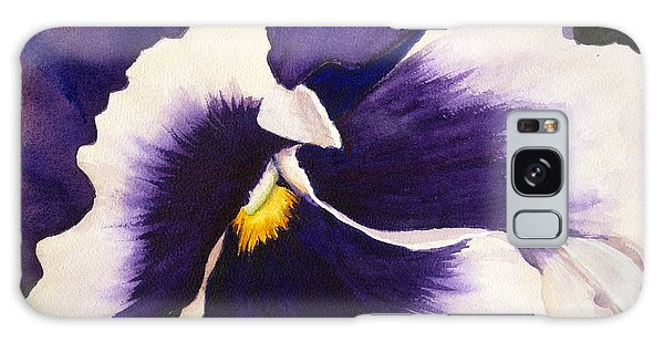 Pansy Face Galaxy Case