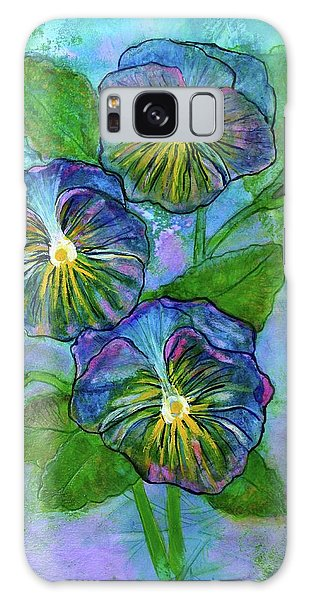 Pansy On Water Galaxy Case