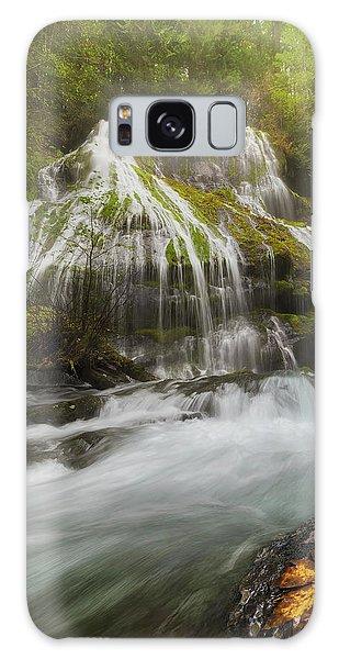 Panther Creek Falls In Fall Season Galaxy Case