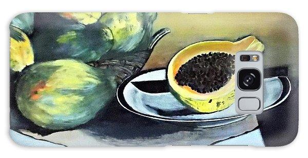 Papaya Still Life Galaxy Case by Francine Heykoop