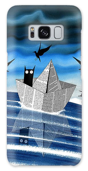 Seagull Galaxy Case - Paper Boat  by Andrew Hitchen