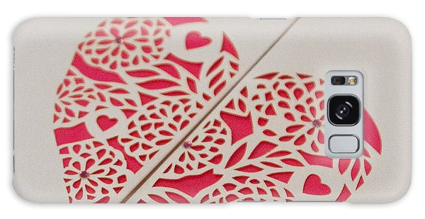 Paper Cut Heart Galaxy Case