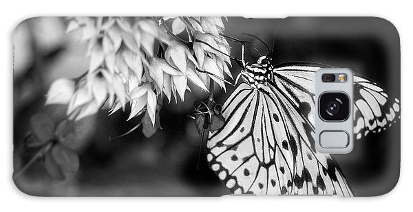 Paper Kite In Black And White Galaxy Case