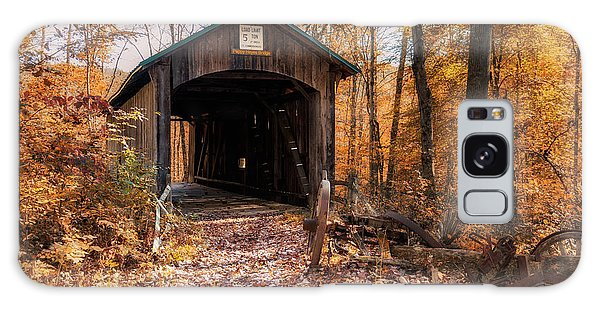 Foliage Galaxy Case - Pappy Hayes Covered Bridge by Tom Mc Nemar
