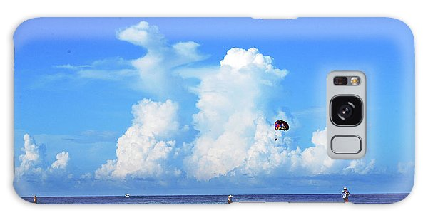 Galaxy Case featuring the photograph Para Sailing On Siesta Key by Gary Wonning