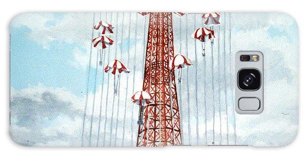 Parachute Jump In Coney Island New York Galaxy Case by Bonnie Siracusa