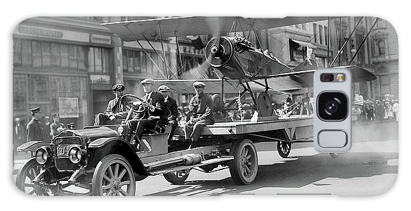 Parade Truck And Biplane Bw Galaxy Case