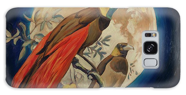 Paradise Birds Galaxy Case by Nop Briex