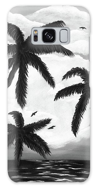 Paradise In Black And White Galaxy Case by Teresa Wing