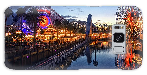 Paradise Pier Sunset Galaxy Case