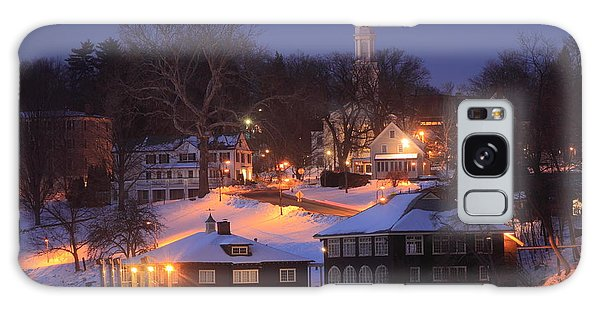 Paradise Pond Smith College Winter Evening Galaxy Case by John Burk