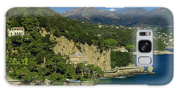 Paraggi Bay Castle And Liguria Mountains Portofino Park  Galaxy Case
