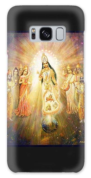Parashakti Devi - The Great Goddess In Space Galaxy Case by Ananda Vdovic