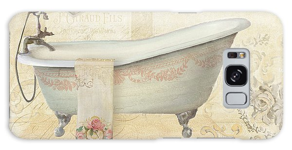 Parchment Paris - Le Bain Or The Bath Chandelier And Tub With Roses Galaxy Case by Audrey Jeanne Roberts