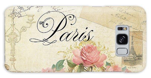 Wall Paper Galaxy Case - Parchment Paris - Timeless Romance by Audrey Jeanne Roberts