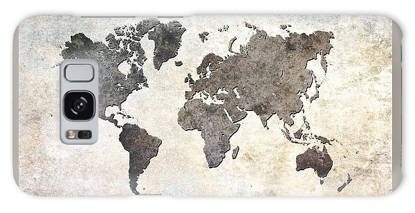 Gray Galaxy Case - Parchment World Map by Douglas Pittman