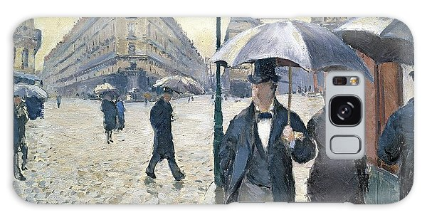 Impressionism Galaxy Case - Paris A Rainy Day by Gustave Caillebotte