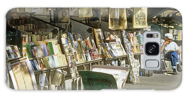 Paris Bookseller Stall Galaxy Case