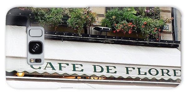 Street Cafe Galaxy Case - Paris Cafe De Flore - Paris Cafe Restaurant - Famous Paris Cafe Restaurant by Kathy Fornal