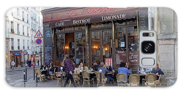 Paris Cafe Le Progres Galaxy Case
