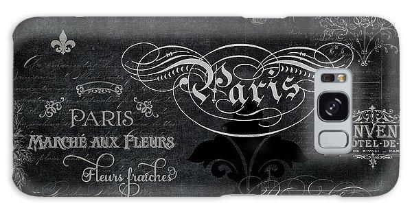 Paris Chalkboard Typography 1 Galaxy Case by Audrey Jeanne Roberts