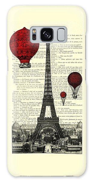 Hot Air Balloons Galaxy Case - Paris, City Of Love by Madame Memento