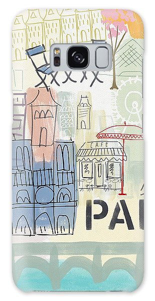 Paris Cityscape- Art By Linda Woods Galaxy Case by Linda Woods