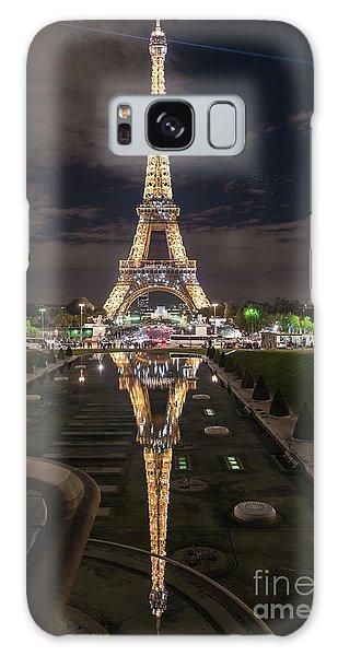 Paris Eiffel Tower Dazzling At Night Galaxy Case
