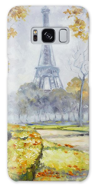 Paris Eiffel Tower From Trocadero Park Galaxy Case