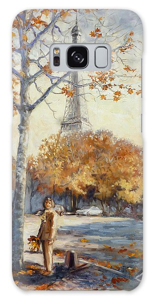 Paris Fall In Trocadero Park Galaxy Case by Irek Szelag