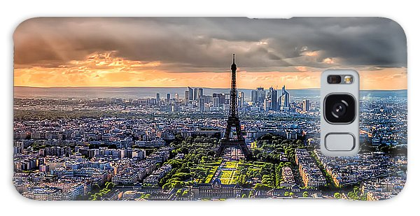 Paris From Above Galaxy Case by Tim Stanley