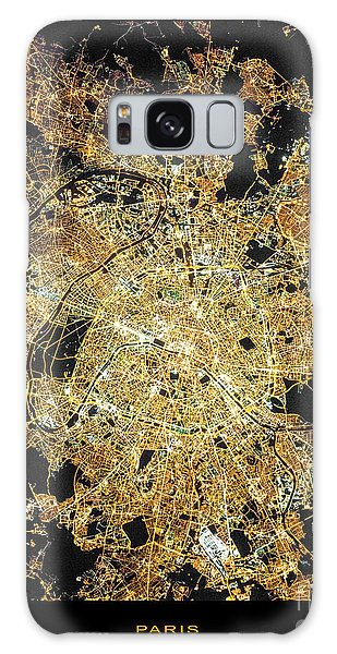 Paris From Space Galaxy Case by Delphimages Photo Creations