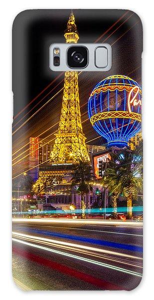 Desert View Tower Galaxy Case - Paris In Las Vegas Strip Light Show by Susan Candelario