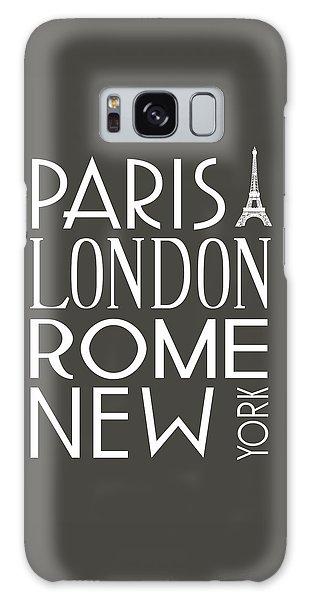 Paris, London, Rome And New York Pillow Galaxy Case by Jaime Friedman