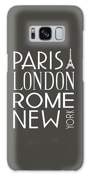 Paris, London, Rome And New York Pillow Galaxy Case