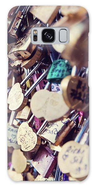 Paris Love Locks Galaxy Case by Melanie Alexandra Price