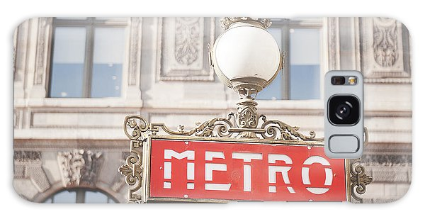 Paris Metro Sign Architecture Galaxy Case