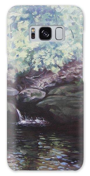 Paris Mountain Waterfall Galaxy Case by Robert Decker