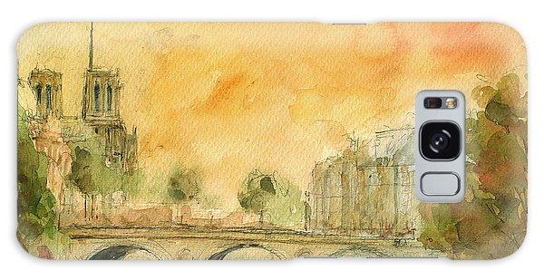 Notre Dame Galaxy Case - Paris Notre Dame by Juan  Bosco
