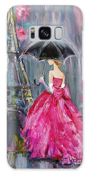 Paris Rain Galaxy Case by Jennifer Beaudet