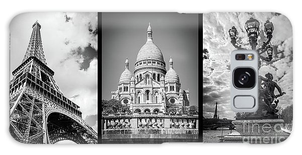 Sacred Heart Galaxy Case - Paris Triptych by Delphimages Photo Creations