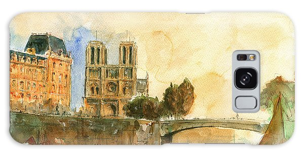 Paris Watercolor Galaxy Case