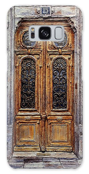 Parisian Door No. 15 Galaxy Case by Joey Agbayani