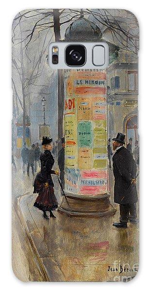 Parisian Street Scene Galaxy Case by John Stephens