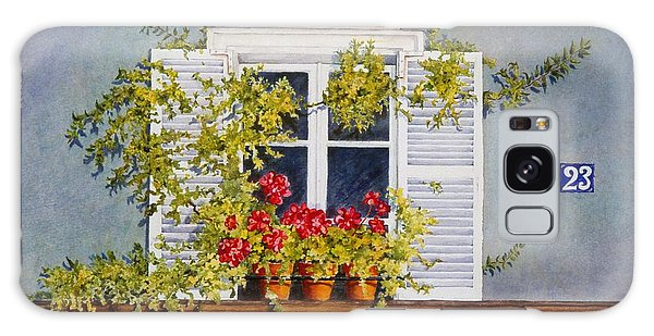 Parisian Window Galaxy Case by Mary Ellen Mueller Legault