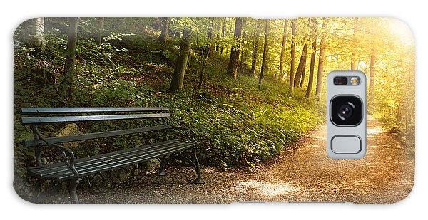 Park Bench In Fall Galaxy Case by Chevy Fleet